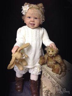 Prototype Jette Swialkowski reborn baby doll  toddler girl IIORA