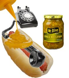 Your telephone bill goes down easier with a little mustard