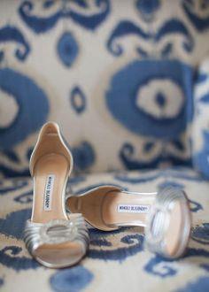 Wedding Shoes, Manolo Blahnik- Santa Monica Wedding http://caratsandcake.com/thegordons