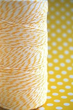 Spool of Lemon Yellow and White Divine Twine