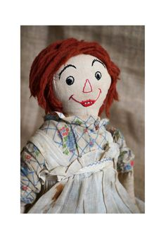 Vintage Raggedy Ann Doll  Primitive Doll  by thevintageparadigm