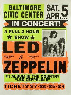 Led Zeppelin - Baltimore Civic Centre - Mini Print