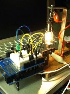 #Arduino UNO and a proto shield... Make it happen with a micro controller..