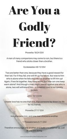 Being a Godly Friend