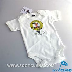 Paterson Clan Crest Baby Body Suit