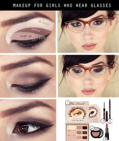 Makeup for girls who wear glasses.