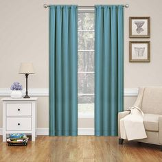 Eclipse Phoenix Blackout Window Curtain with Bonus Panel Blackout Panels, Blackout Windows, Blackout Curtains, Kids Curtains, Blue Curtains, Window Curtains, Eclipse Curtains, Brighten Room, Room Darkening Curtains