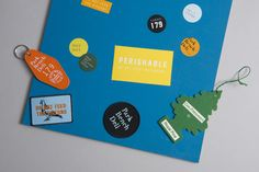 Brand identity, stickers, keyrings and patches by Foreign Policy for Singapore's Park Bench Deli