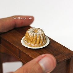 Miniature Kugelhopf for my grandma's birthday. Today was a Kugelhopf day :) @nunus_house #miniature #food #dollhouse | Flickr - Photo Sharing!