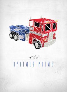 The Optimus Prime Art Print by Josh LN