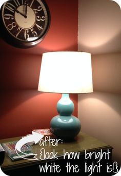 See the result #GEreveal had on Girl with Blog's darkest room in her home. #100reveal #makeover #DIY