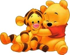 I just luv this pic    Baby Winnie and Tigger
