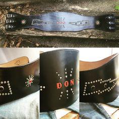 Kidney studded belt - western Rockabilly belt - biker belt