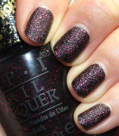 Matte Glitter Manicure.