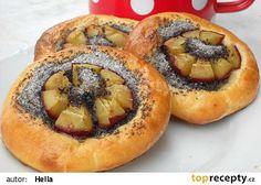 Náplň na koláče z máku a švestek recept - TopRecepty.cz Bagel, Bread, Fruit, Recipes, Food, Brot, Essen, Baking, Eten