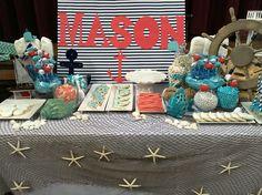 Mason back drop nautical baby shower
