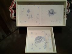 English roses trays duet
