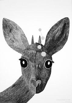 永井一正のポスター展『LIFE』、動植物がモチーフの生命力溢れるポスター139点を紹介