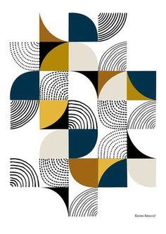 Curven open edition giclee print blauw van EloiseRenouf op Etsy