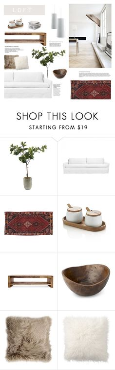 """""""Loft"""" by rad-lifestyle ❤ liked on Polyvore featuring interior, interiors, interior design, home, home decor, interior decorating, Frontgate, Crate and Barrel, Verge and Public Library"""