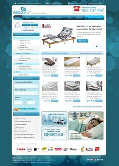 Descansum My Style, Shopping, Box Springs, Web Design, Zaragoza