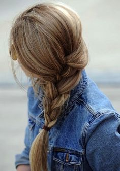 Messy Braid + 90s Denim.