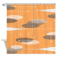 Mid-Century Atomic Shower Curtain