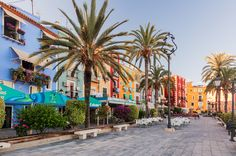 Colourful apartments along the beachfront of Villajoyosa, Spain.  Villajoyosa is a coastal town and municipality in the Province of Alicante. | Flickr