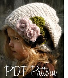 Crochet PATTERN-The Nala Slouchy Toddler Child Adult sizes