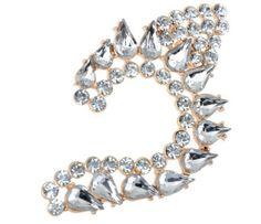 Kolczyk Kryształowa Nausznica skrzydło Anioła Brooch, Stud Earrings, Crystals, Bracelets, Leaves, Jewelry, Check, Fashion, Moda