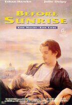 """BEFORE SUNRISE  --  """"...eine Filmromanze v ganzem Herzen, die diesen Titel ehrlich verdient u sich wohltuend von den m Zuckerguß überzogenen Lovestorys der Traumfabrik abhebt. [...] Lange ist es her, daß die Hauptfiguren eines amerikanischen Films so wahrhaftig waren wie Jesse u Celine [...] Keine Sekunde kann man die Augen v der Leinwand abwenden. Wenn Jesse u Celine [...] ihre Gedanken über Liebe, Leben, Tod u alle denkbaren existentialistischen Probleme offenbaren, dann lauscht man…"""