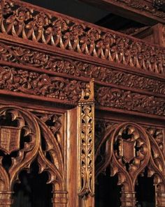 Gothic wood carving...