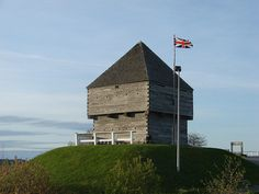 Photograph of the Blockhouse that sits atop Fort Howe in Saint John, New Brunswick. New Brunswick, O Canada, Colonial America, Saint John, Fortification, Forts, British Army, American Revolution, Vacation