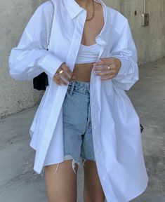 Mode Outfits, Retro Outfits, Cute Casual Outfits, Short Outfits, Simple Outfits, Stylish Outfits, Girl Outfits, Look Fashion, Teen Fashion