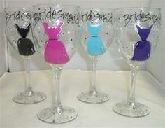 Decorated Wine glasses