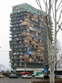 """brutgroup: """"Iveria Hotel, Tbilisi, built in Destroyed to its steel structure frame and completlly rebuilt in 2009 by a western hotel chain. photo by jameswberk via. Camping In Georgia, Camping In North Carolina, Hotel 6, Fine Hotels, Broken Window, Strange Places, Camping World, Appalachian Trail, Modern Buildings"""