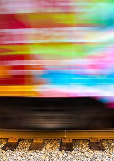 2 – Move the Subject I used to hate see tags on train cars, until I realized the magic of all those random colors screaming by at 40 miles per hour (65 km/h).  Now I often look for all kinds of colorful items, just for their color alone. The shape, subject, or intent may not be what I want, but if I can use that color and get it to move just the way I want…I can capture the colorful essence.