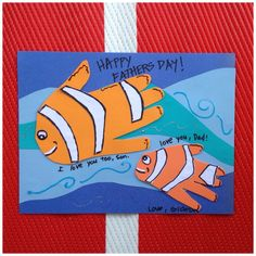 Fish Handprint Father's Day Craft -