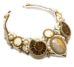 Ammonite fossils is unusual and interesting material for designing jewelry. Not that easy to use