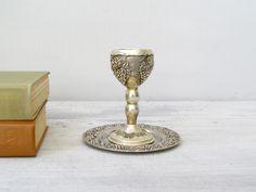 Vintage 'Kiddush' Goblet, Classic Retro Wine Glass