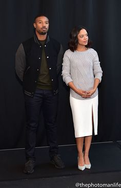 Tessa Thompson and Michael B. Tessa Thompson Husband, Tessa Thompson Creed, Michael B Jordan Girlfriend, Michael Bakari Jordan, Creed Movie, Trevor Jackson, Black King And Queen, Black Relationship Goals, Mahershala Ali