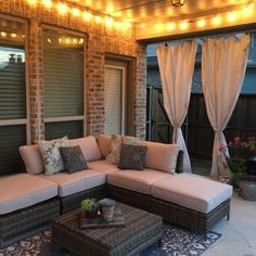 Love the curtains in the back - may steal that idea for my patio!