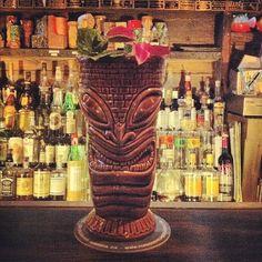 Fabulous Tiki drinks in this hidden gem.