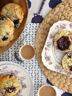 Light lavender paired with bold blackberries turns a plain scone into an otherworldly breakfast experience.