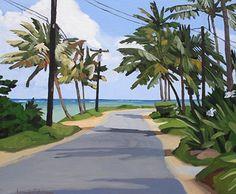 "Along the Sea by Brenda Cablayan Acrylic ~ 20"" x 24"""