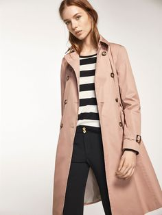 Autumn winter 2016 Women´s PINK TRENCH COAT at Massimo Dutti for 245. Effortless elegance!
