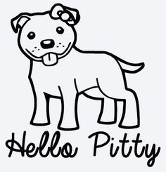 Pitbull Vinyl Decal  Hello Pitty by MukiMoo on Etsy, $3.00