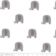 Tissu double gaze de coton Elephant Gray x 10 cm