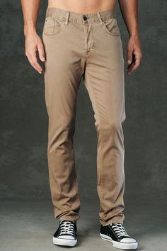 Hudson Jeans New Men's 'Sarto' Slouchy Skinny Fit Beige Pants 36x35 NWT $114.00 #HudsonJeans #CasualPants