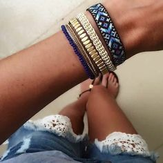 This gorgeous look is a 1-piece wrap bracelet!! Stella & Dot is bringing the stackable to a whole new level with this flawless and easy look! It also comes in a white neutral.  Available starting today with the brand new Summer Collection ♡ Vista Wrap Bracelet